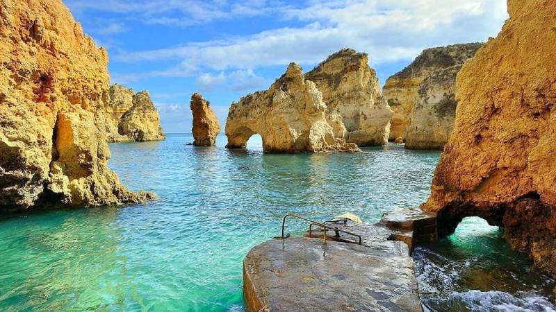 Ponta da Piedade perto de Lagos Algarve