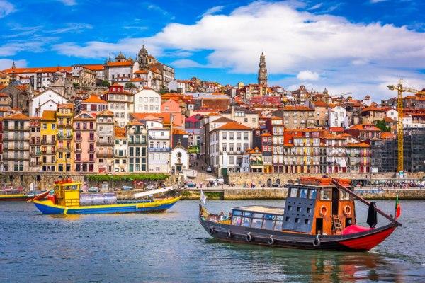 Porto com o rio Douro