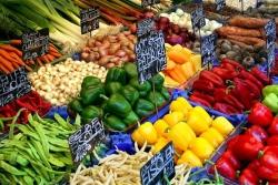 Frutas e legumes no Naschmarkt