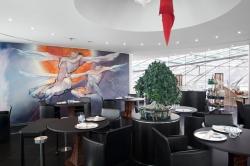 O restaurante Ikarus no Redbull Hangar 7