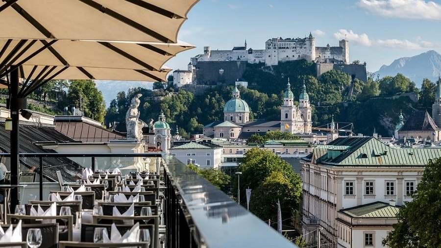 Salzburgo - Vista do hotel Imlauer Pitter