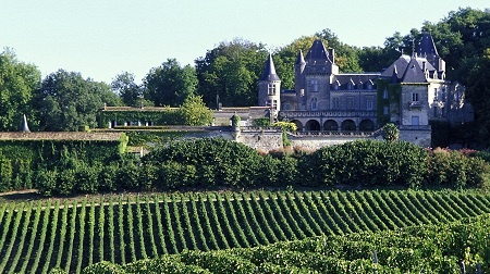 O château la Riviere Fronsac Vignoble no Bordeaux