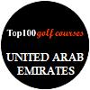O top 100 campos de golfe de United Arab Emirates