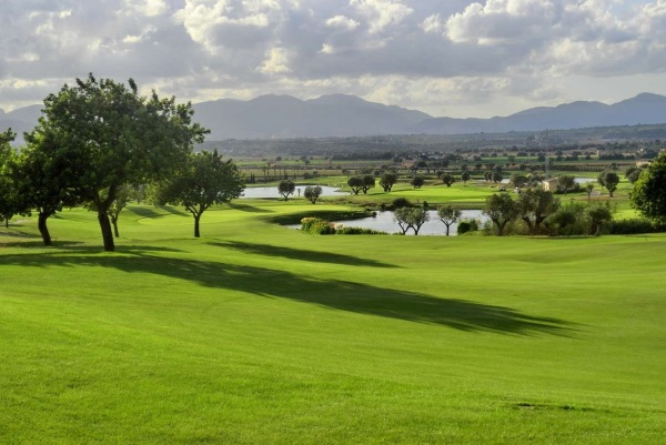 O campo de golfe Sun Gual na ilha Maiorca