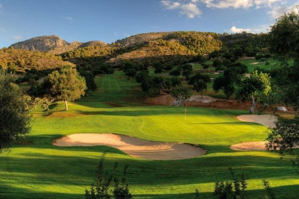 O campo de golfe Sun Termes na ilha Maiorca em Espanha