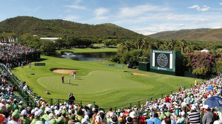 O Gary Player Golfcourse construído em uma cratera vulcânica .