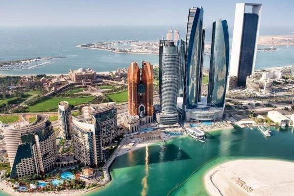 Skyline Abu Dhabi com Kempinsky Palace hotel