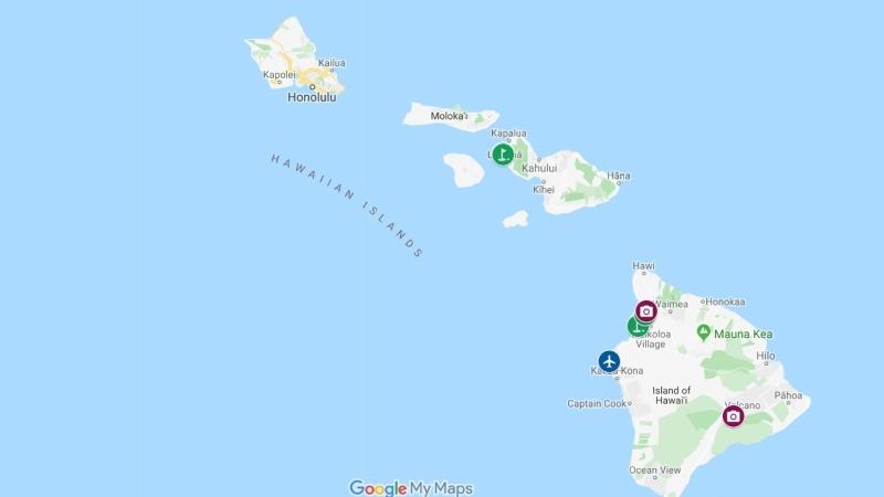 O map do havai big island