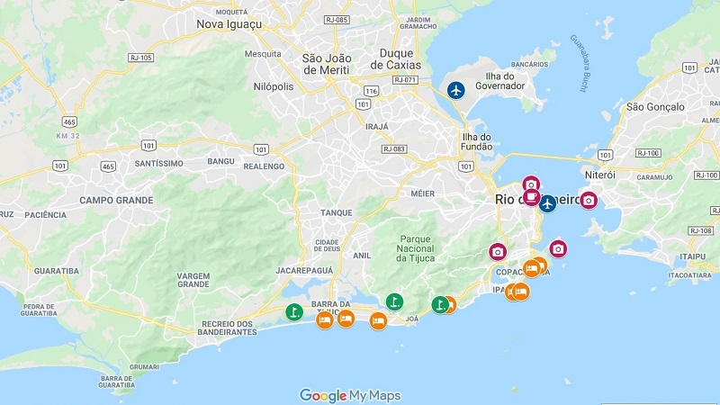 Rio de Janeiro campos de golfe e hotéis