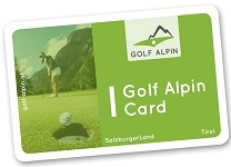 Golf Alpin Card para o Tirol e Salzburg
