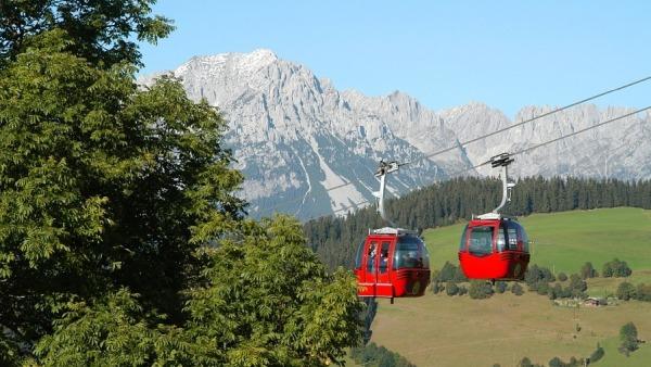 O telferico do Kitzbuhler Alpen