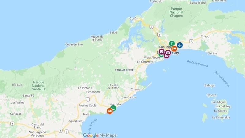Cidade do Panama com Casco Antigua ou San Felipe