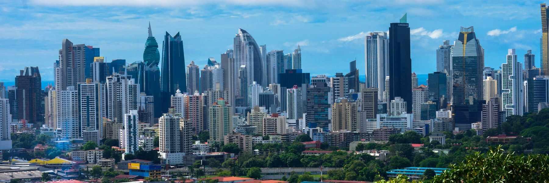 o skyline de Cidade do Panama com Marriott hotel