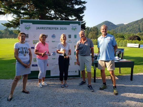 Ganhador Judith Kraft com representantes Teamtours / Klaus & Roland Kaiser