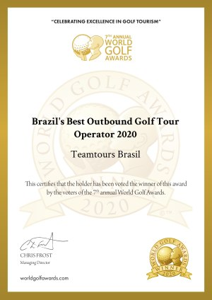 Winners certificate brazils best golf touroperator
