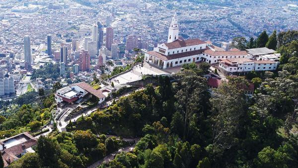 A Basílica do Senhor de Monserrate no Bogota