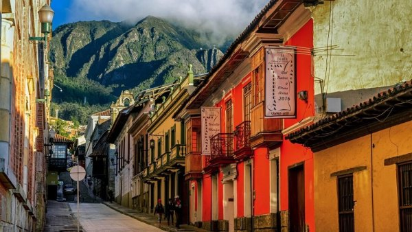 O bairro La Candelaria na Bogotá