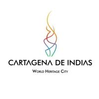 O logo de cidade caribbean Cartagena de Indias - Colombia