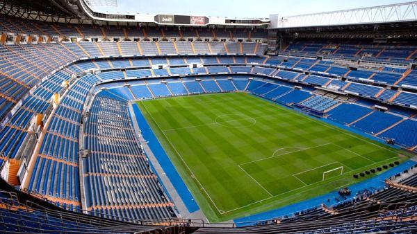 O estadio Santiago de Bernabeu em Madrid