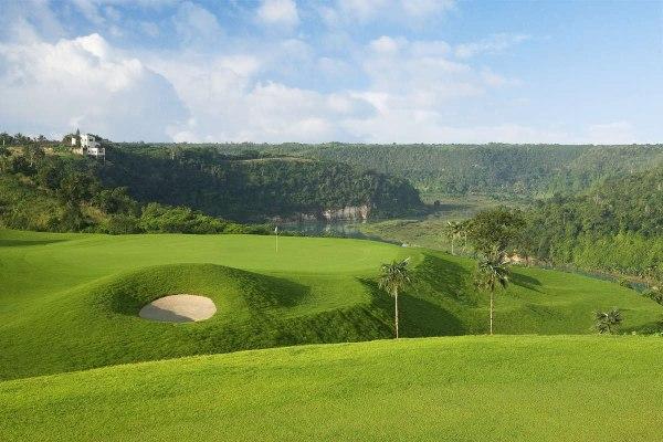 O campo de golfe La Estancia na La Romana - Republica Dominicana