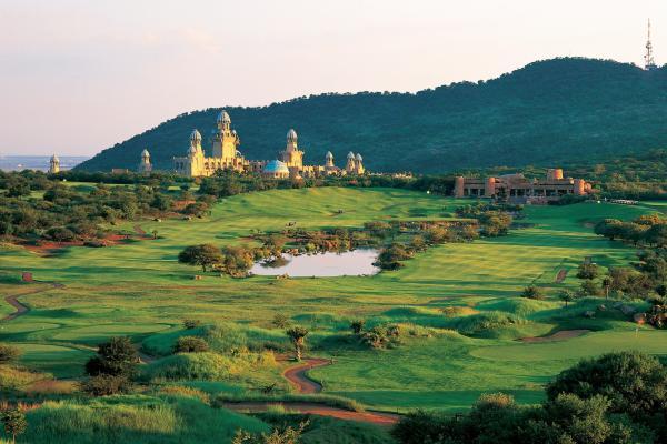O Lost City Golf Course dentro do complexo Sun City em Africa do Sul