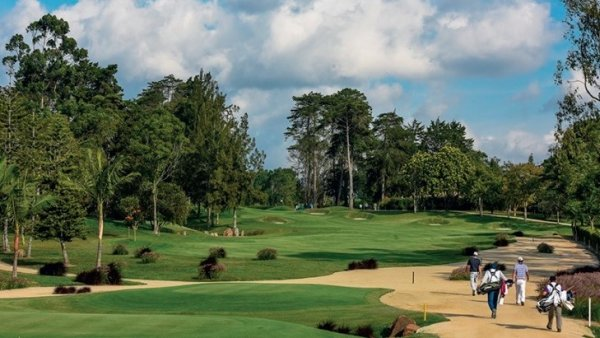 o campo de golfe em campestre de Llano Grande club no Medellin
