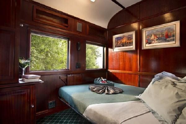 O suite Pullman de rovos rail