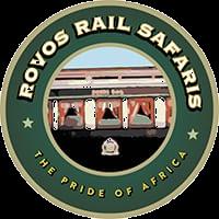 O logo de Rovos Rail Safari de Africa do Sul