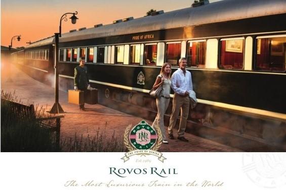 Um trem de Rovos Rail na África do Sul