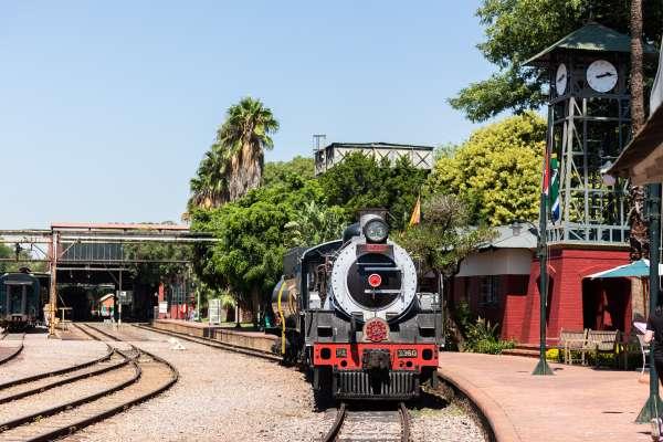O trem Rovos Rail Safaris na África do Sul