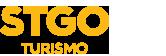 O logo de escritorio de turisme de Santiago de Chile