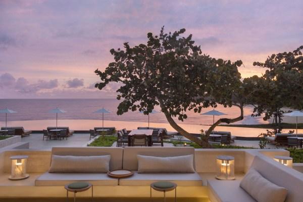 O terraço do Amarena Resort ao pôr do sol - República Dominicana