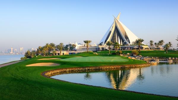 O ultimo buraco com club house de Dubai Creek