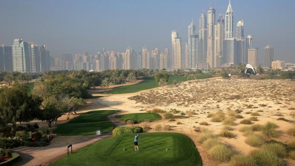 O Majlis golf course no Emirates Golf Club em Dubai