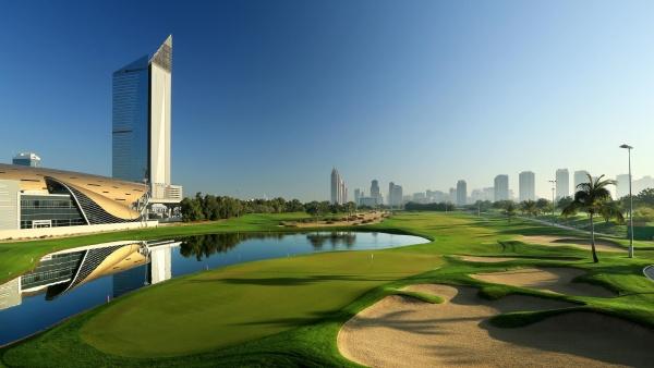 O Faldo golf course no Emirates Golf Club em Dubai