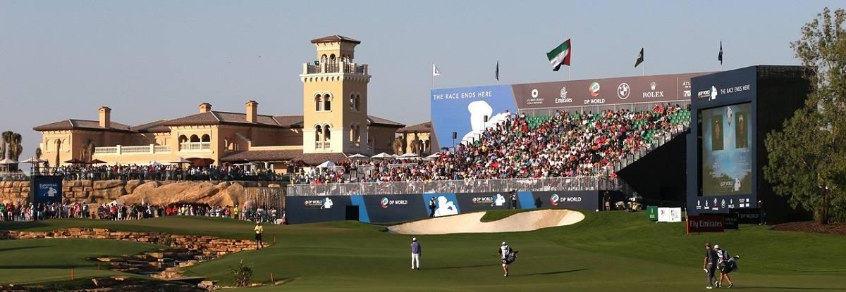 A dia de finale de race to Dubai no Earth Course