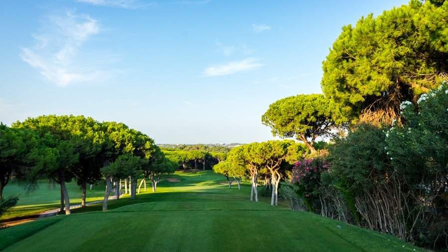O campo de golf Dom Pedro Old Course no Vilamoura Algarve Portugal