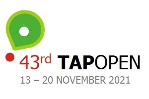 O logo de TAP Open 2021 no Algarve - Portugal